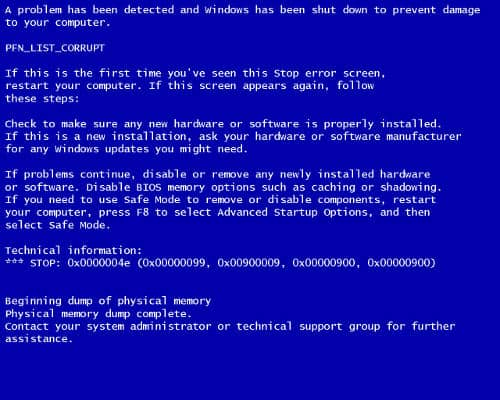 Blue Screen of Death Townsville